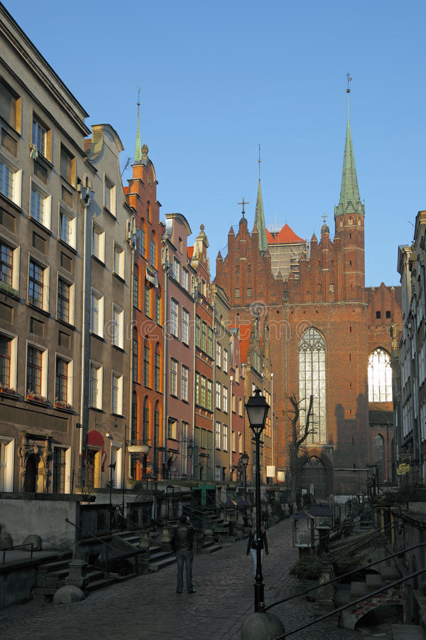 gdansk mary s gata fotografering för bildbyråer