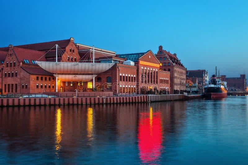 Gdansk na noite foto de stock royalty free