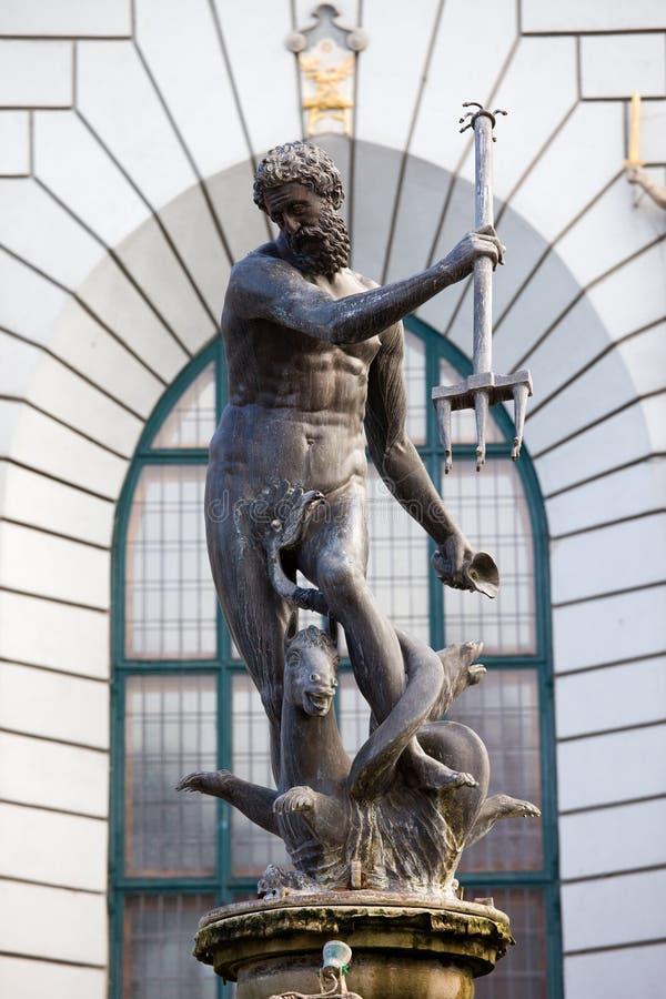 gdansk neptune staty royaltyfri fotografi