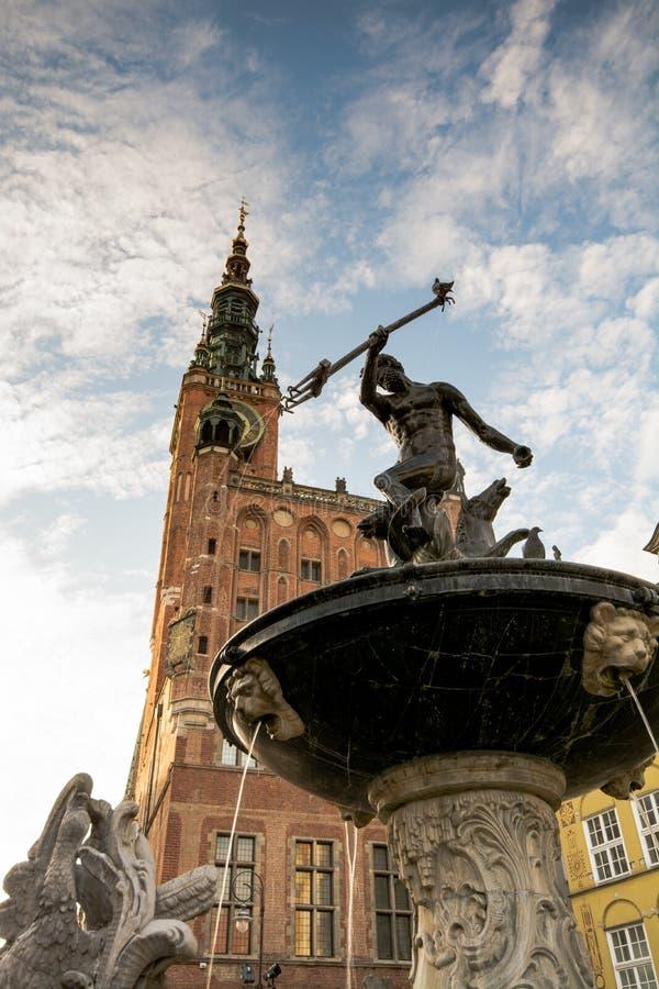 Gdansk Netuno foto de stock
