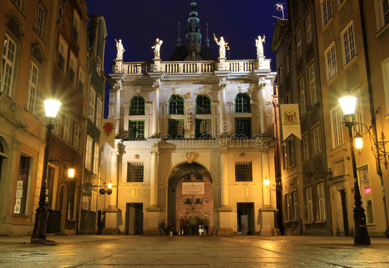 Download Gdansk at night stock image. Image of gold, detail, classical - 14471377