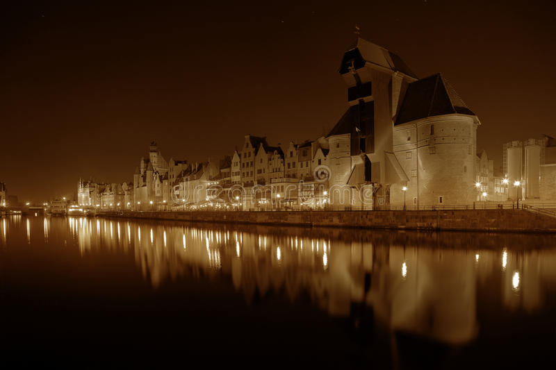 Download Gdansk at night stock image. Image of famous, ornamented - 28514515