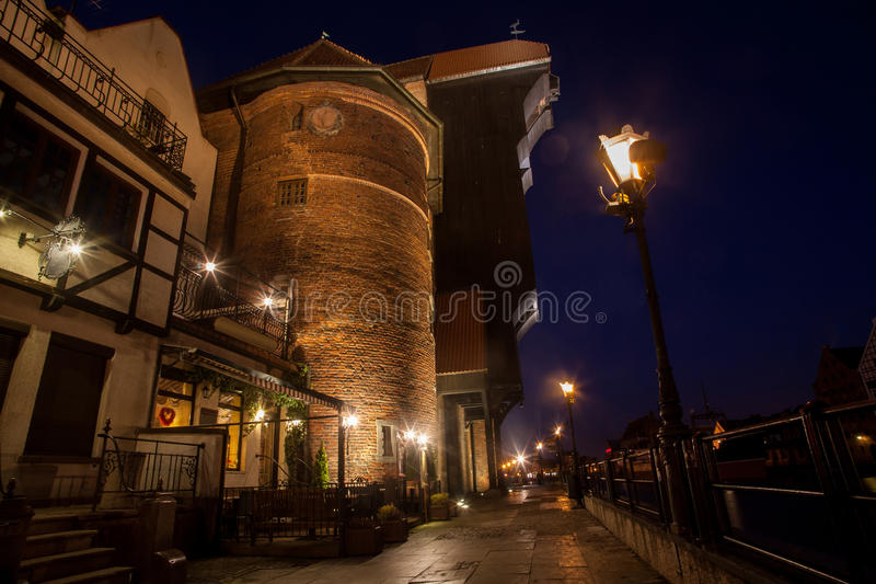 Gdansk At Night Royalty Free Stock Photo