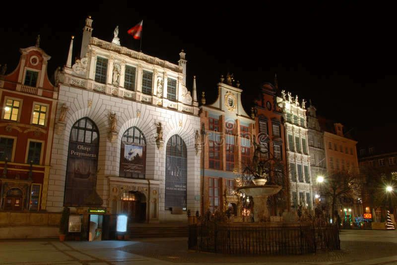 Download Gdansk at night stock photo. Image of attractions, night - 4728974