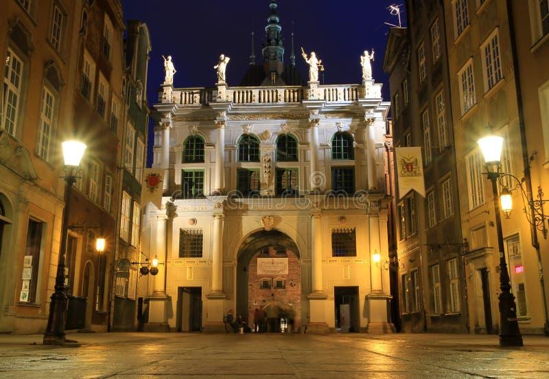 Gdansk Noc Fotografia Royalty Free