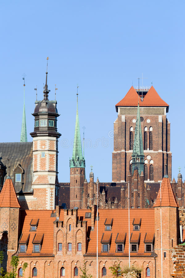 Download Gdansk Old Town stock photo. Image of ornamented, cityscape - 21706474