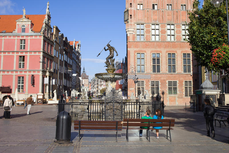 Download Gdansk Old Town stock image. Image of bench, heritage - 21808843