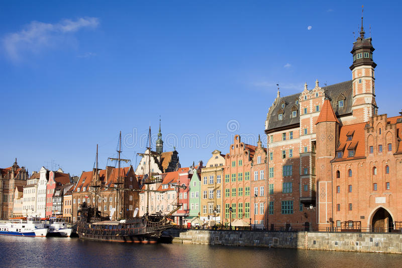Gdansk Old Town in Poland stock image