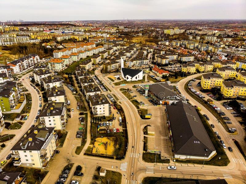 Gdansk Osiedle Pogodne royaltyfri fotografi