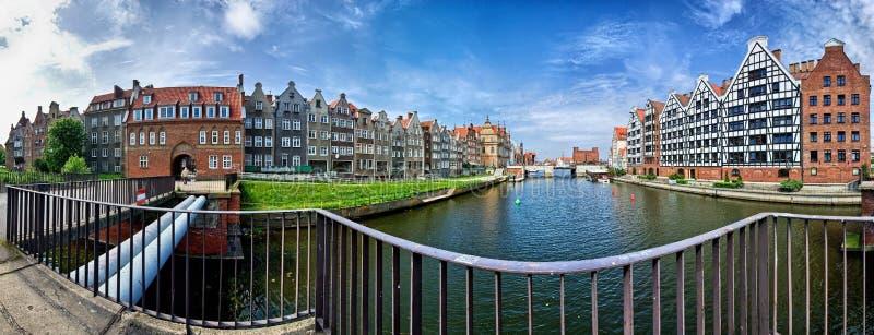 Gdansk panorama royaltyfri foto