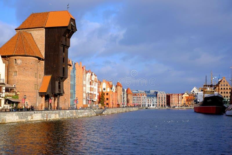 gdansk panorama obrazy royalty free