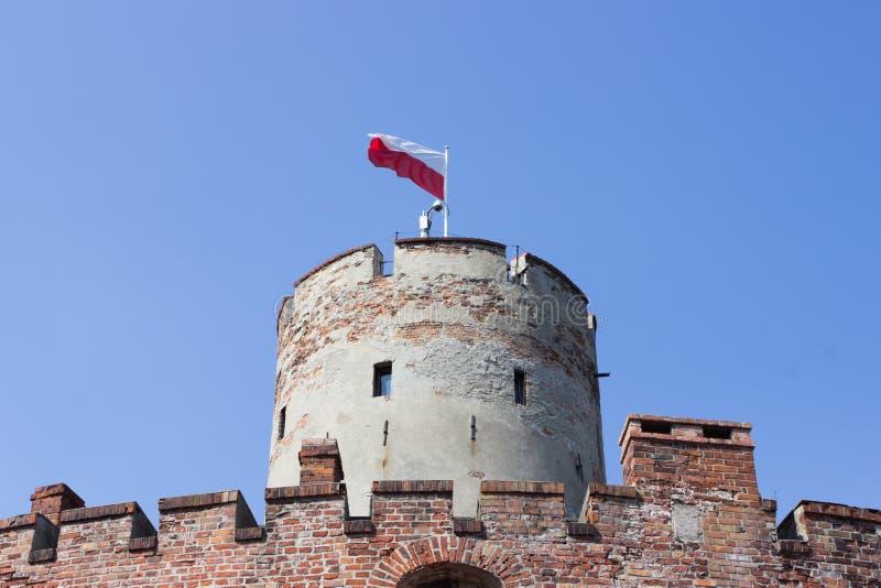 Gdansk, Polônia, o 27 de agosto de 2016: Fortaleza de Wisloujscie - forte histórico polonês fotografia de stock
