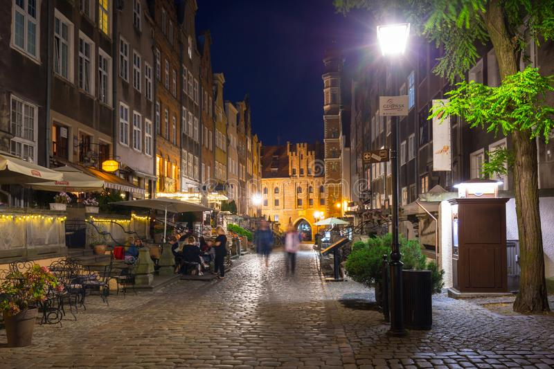 Gdansk, Poland - August 21, 2019: Beautiful architecture of the old town in Gdansk, Poland. Gdansk is the historical capital of. Polish Pomerania with beautiful royalty free stock image
