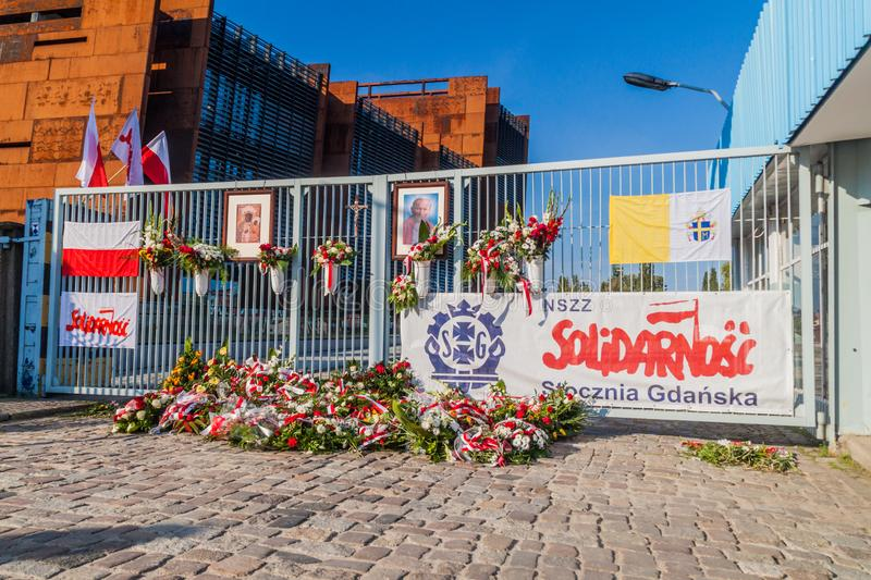 GDANSK, POLAND - SEPTEMBER 1, 2016: Gate Number Two of Gdansk Shipyard, place of 1980s strikes.  stock photo