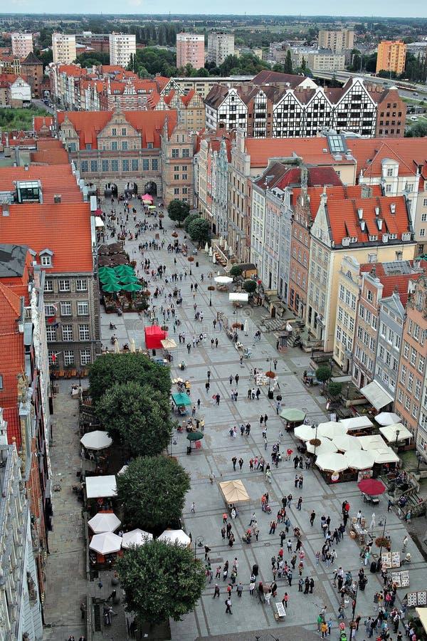 Gdansk, Poland. Vista Bird's-eye. imagem de stock