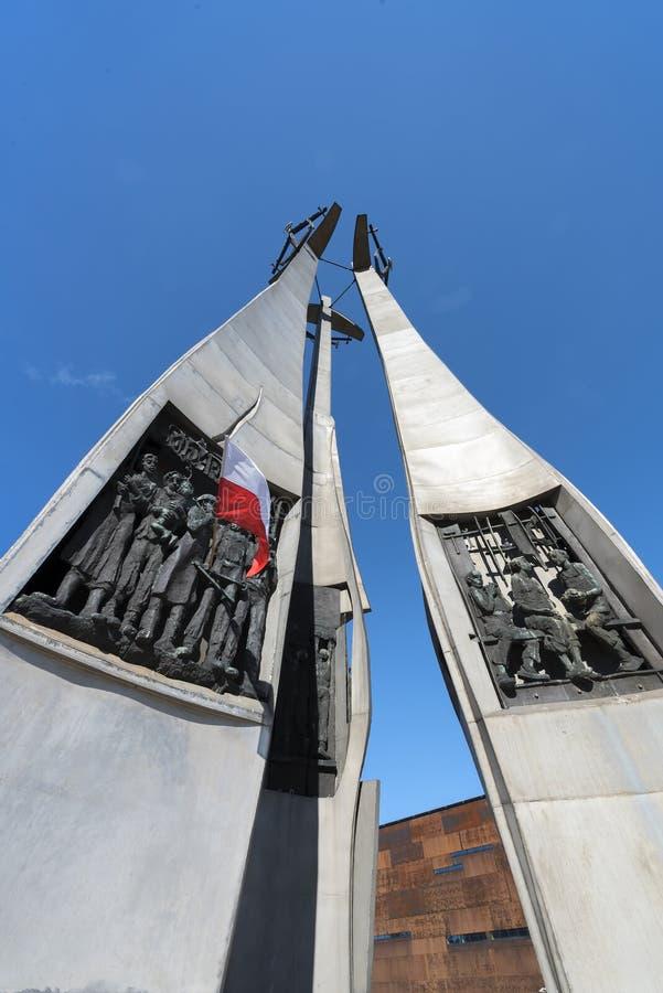 GDANSK POLEN - monument av den stupade skeppsvarven arkivfoton