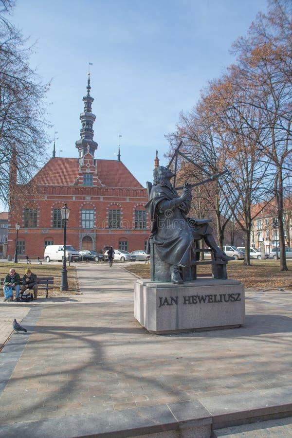 Monumento de Jan Hevelius foto de archivo