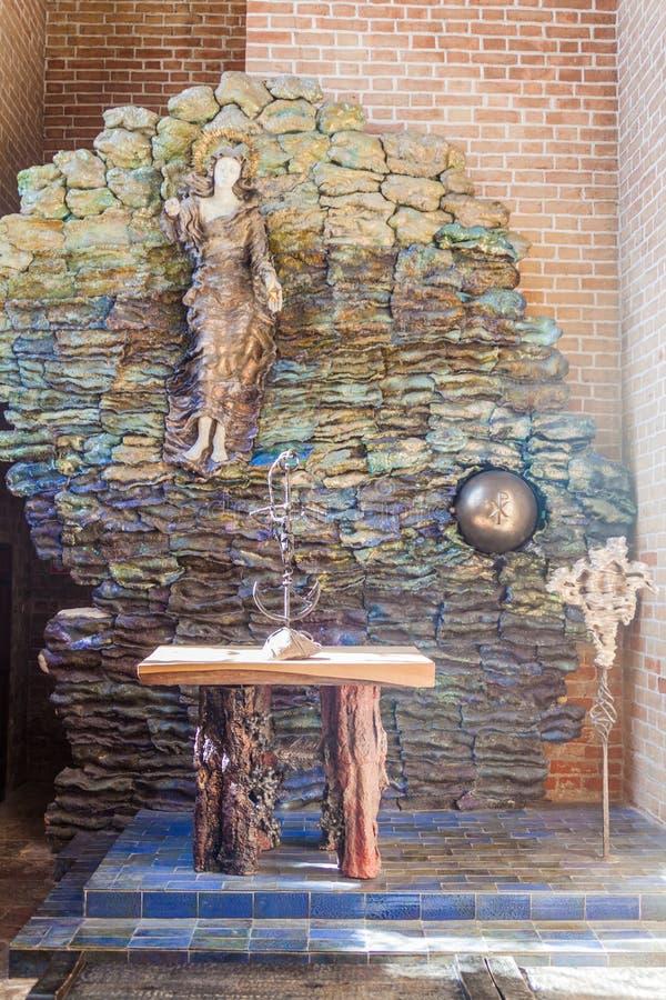 GDANSK, POLONIA - 1 DE SEPTIEMBRE DE 2016: Monumento religioso en Churc de St Mary imagen de archivo