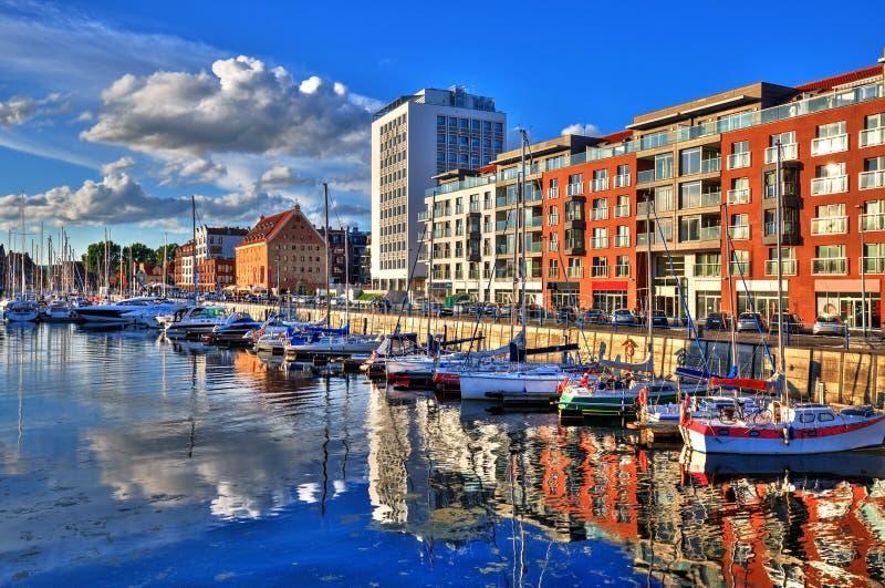 gdansk port royaltyfria foton