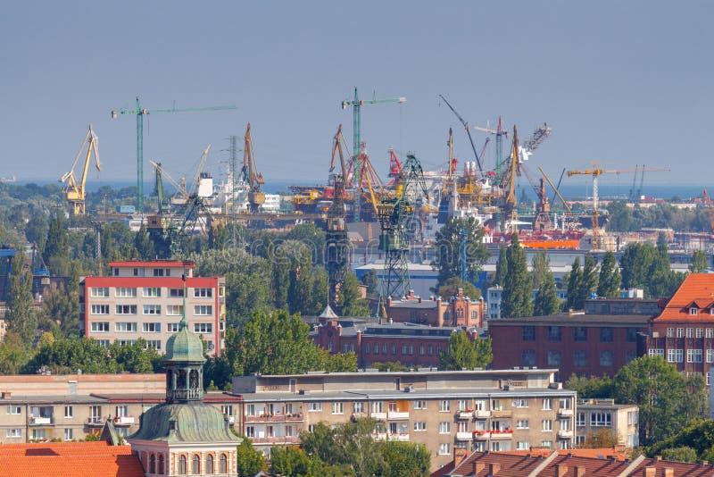 gdansk Porto marítimo foto de stock