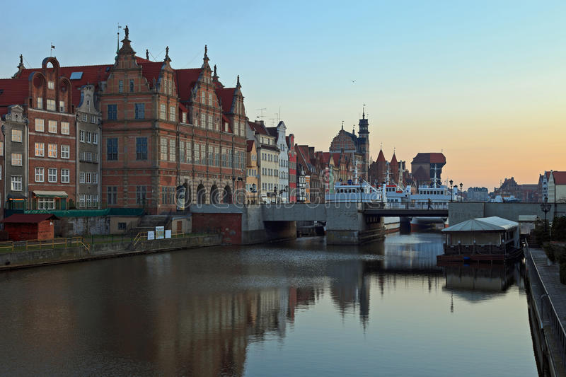 Download Gdansk Of Riverside At Dawn Royalty Free Stock Image - Image: 19067256
