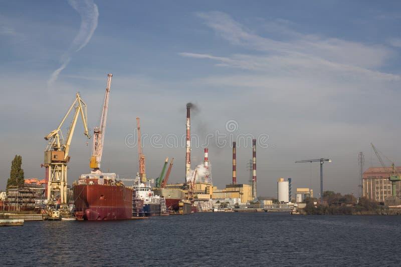 Gdansk skeppsvarv fotografering för bildbyråer