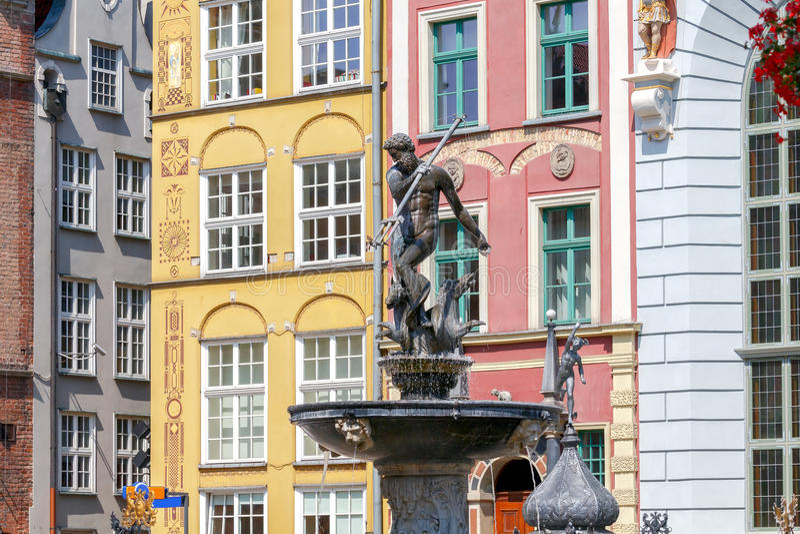 gdansk Skulptur von Neptun stockfoto