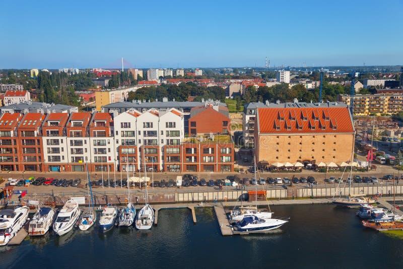 Gdansk-Stadtpanoramablick lizenzfreie stockfotos