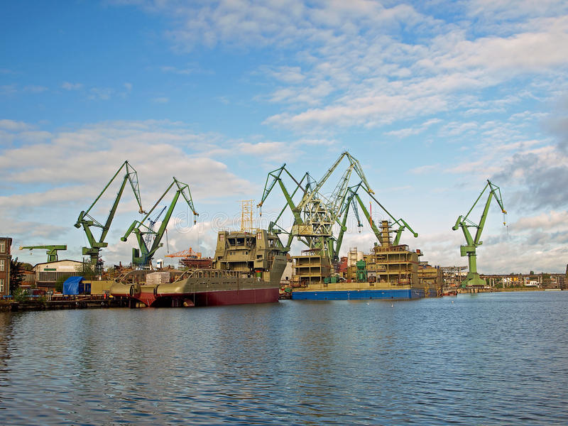 gdansk stocznia zdjęcie stock