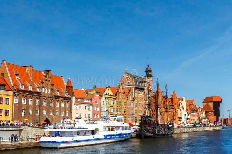 gdansk Terraplenagem central foto de stock
