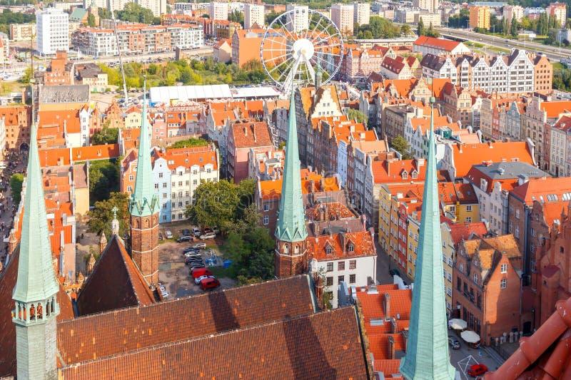 gdansk Vista superior imagem de stock royalty free