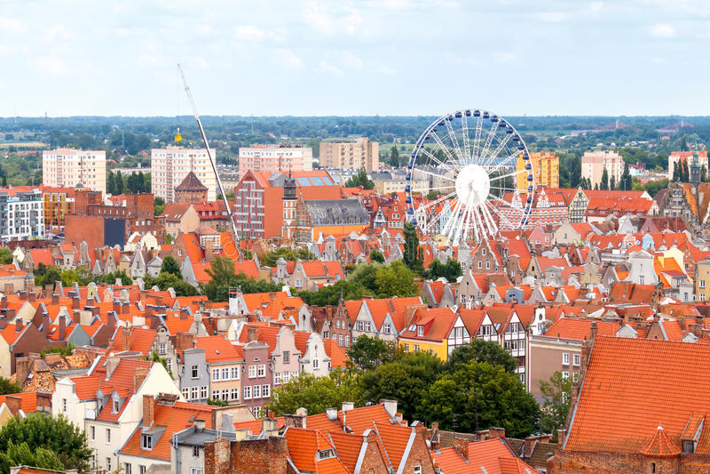 gdansk Vista superior foto de stock