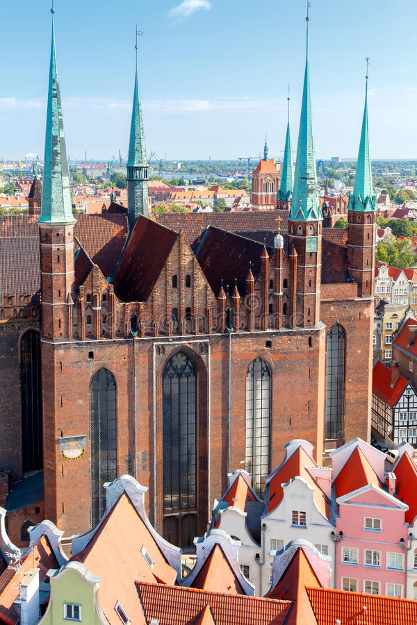 gdansk Vista superior imagem de stock