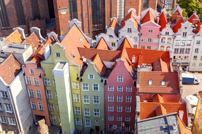 gdansk Vista superior fotografia de stock royalty free