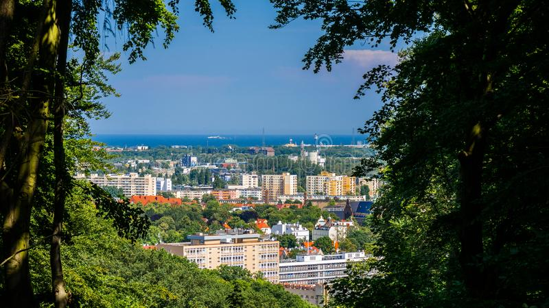 Gdansk Wrzeszcz och golf av Gdansk arkivbilder
