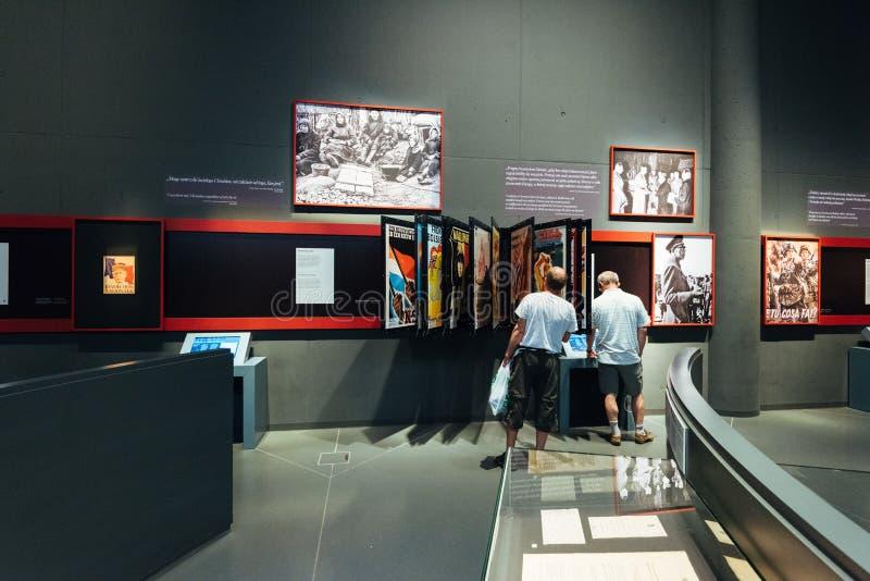 Gdansk, WWII Musueum, exposição fotos de stock