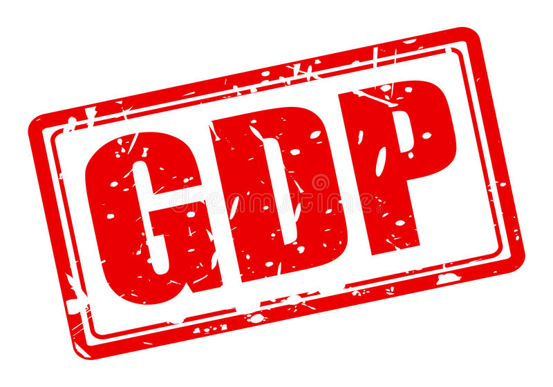 GDP red stamp text stock illustration