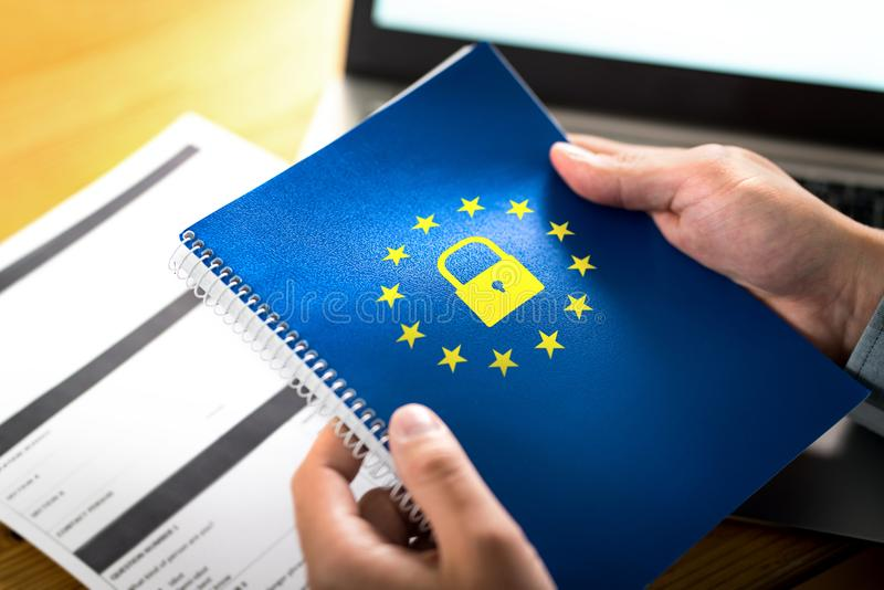 GDPR一般数据保护章程概念 图库摄影