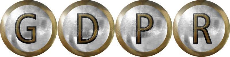 GDPR,一般数据保护章程 库存照片