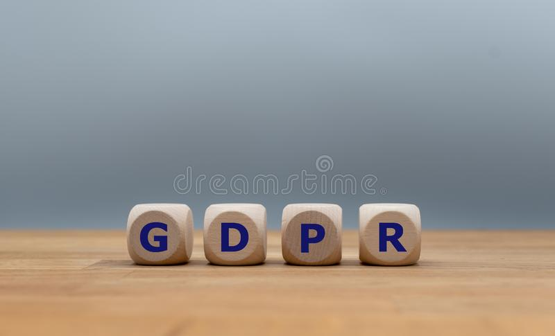 GDPR, γενική έννοια τεχνολογίας επιχειρησιακού Διαδικτύου κανονισμού προστασίας δεδομένων στοκ φωτογραφία