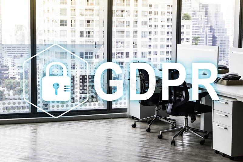 GDPR Регулировка защиты данных Безопасность кибер и концепция уединения стоковые изображения rf