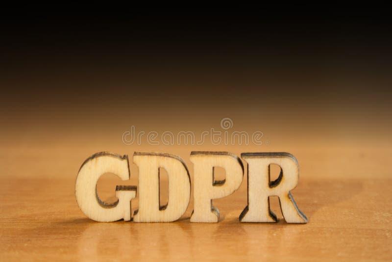 Gdpr слова стоковая фотография