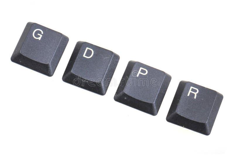 GDPR -一般数据在欧盟的保护章程 免版税库存图片