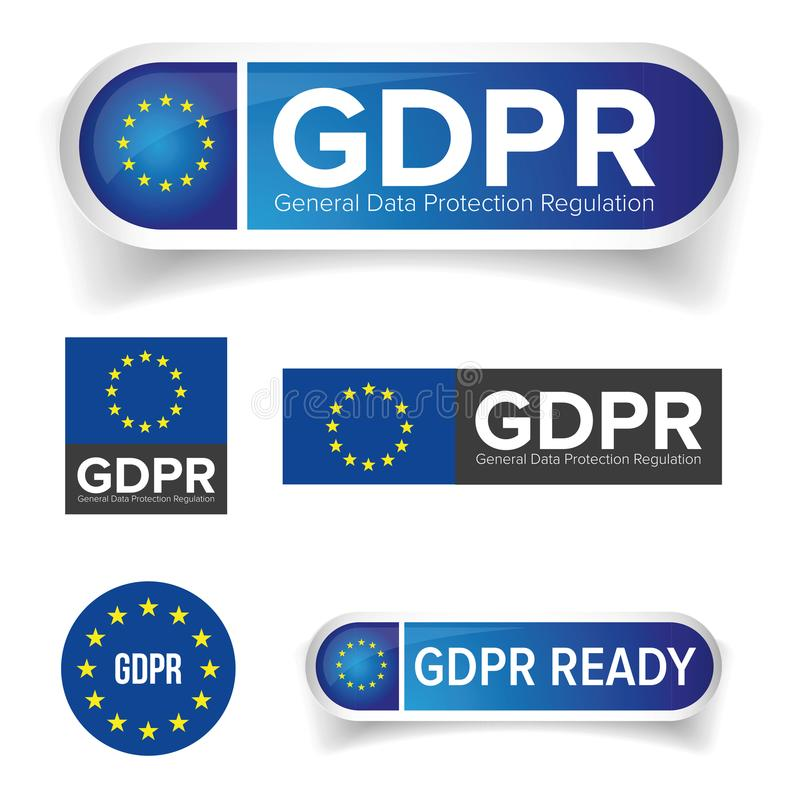 GDPR -欧盟一般数据保护章程 向量例证