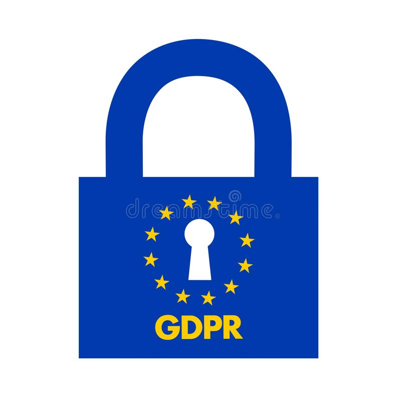 GDPR illustrazione di stock