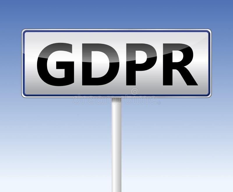GDPR - Allgemeine Daten-Schutz-Regelung Die Umwegnadelanzeige lizenzfreie abbildung