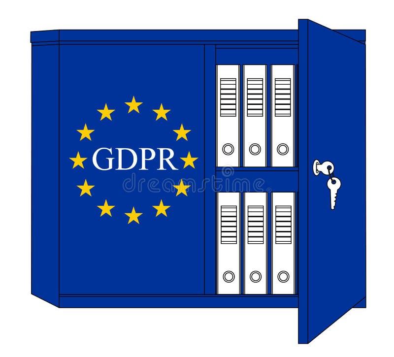 GDPR angielszczyzny - Ogólnych dane ochrony przepisu pojęcie ilustracja wektor