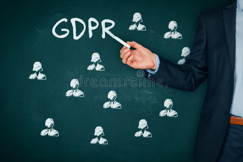 GDPR-begrepp royaltyfri bild