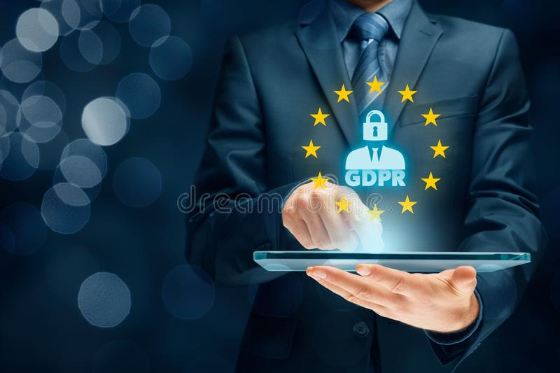 GDPR-concept stock afbeelding