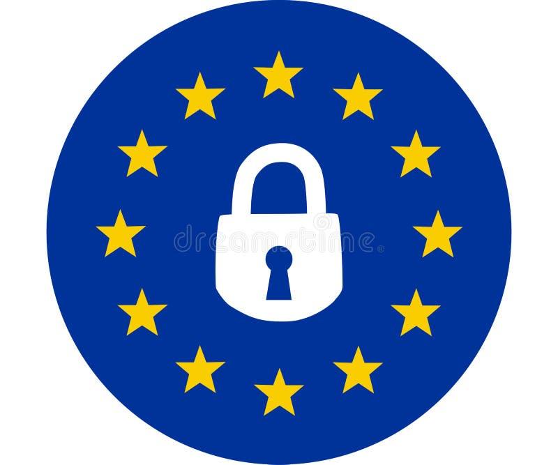 Gdpr concept, data protection, lock locked vector illustration
